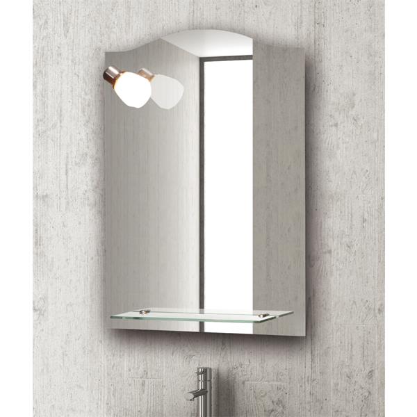 Specchio Bagno Con Faretti.Specchio Per Bagno D Hotel Federhotel Kg Fh Bh 302 Con Faretto E Mensola