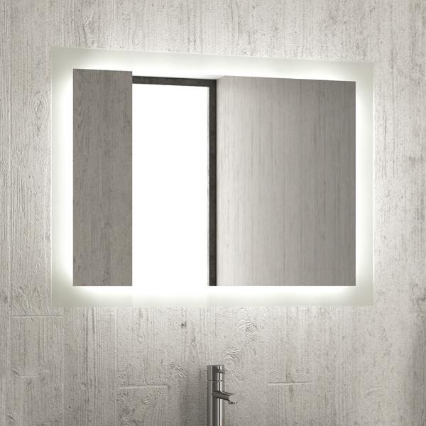 Specchio Con Cornice Per Bagno.Specchio Illuminato Con Strisce Led Per Bagno D Hotel Federhotel