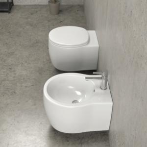 Sanitari sospesi senza lavabi dedicati