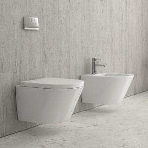 Sanitari sospesi con lavabi dedicati